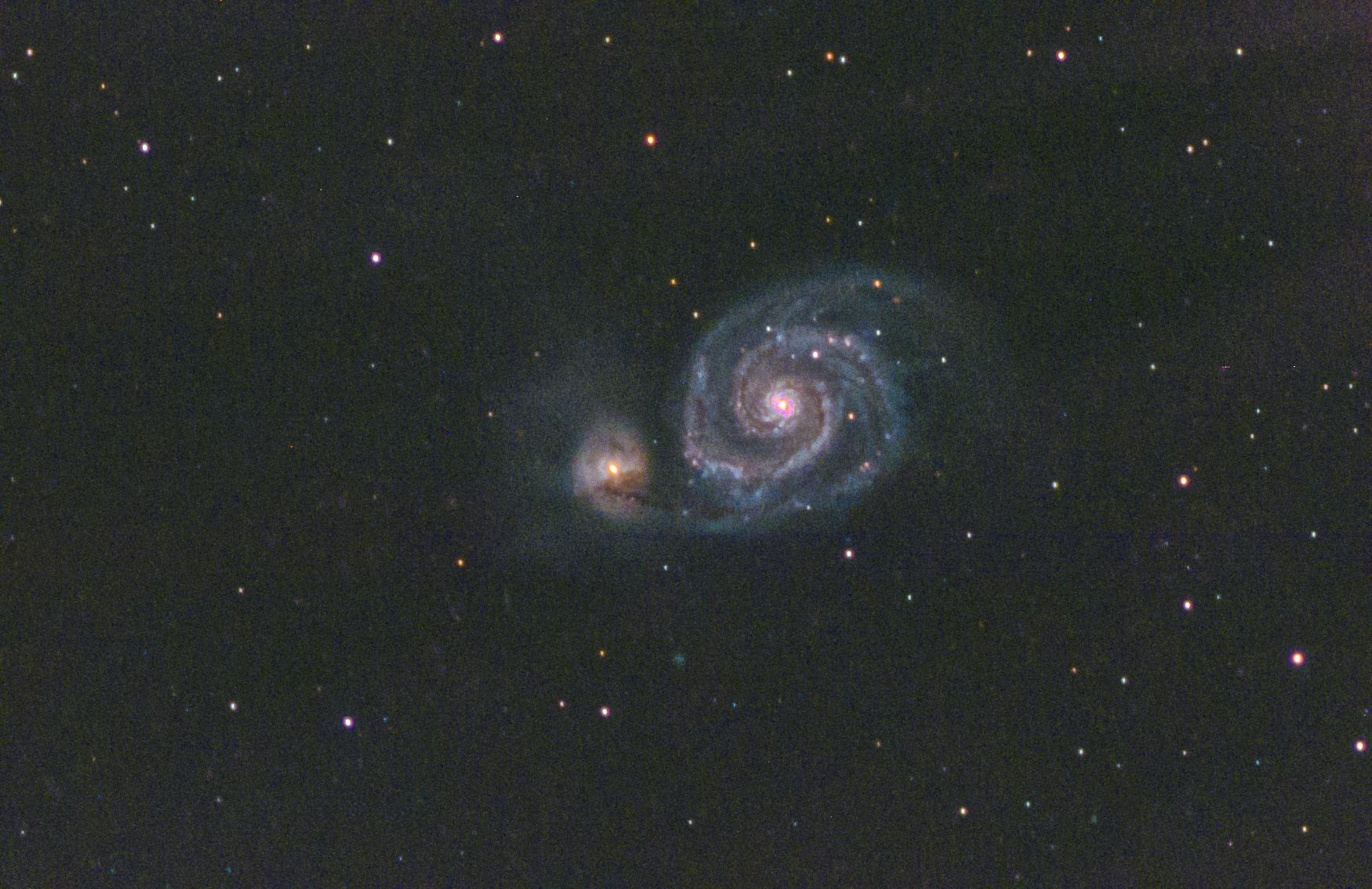 messier 51, m51, whirlpool galaxy, question mark galaxy