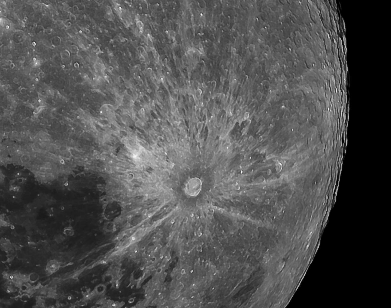 tycho, moon, lunar