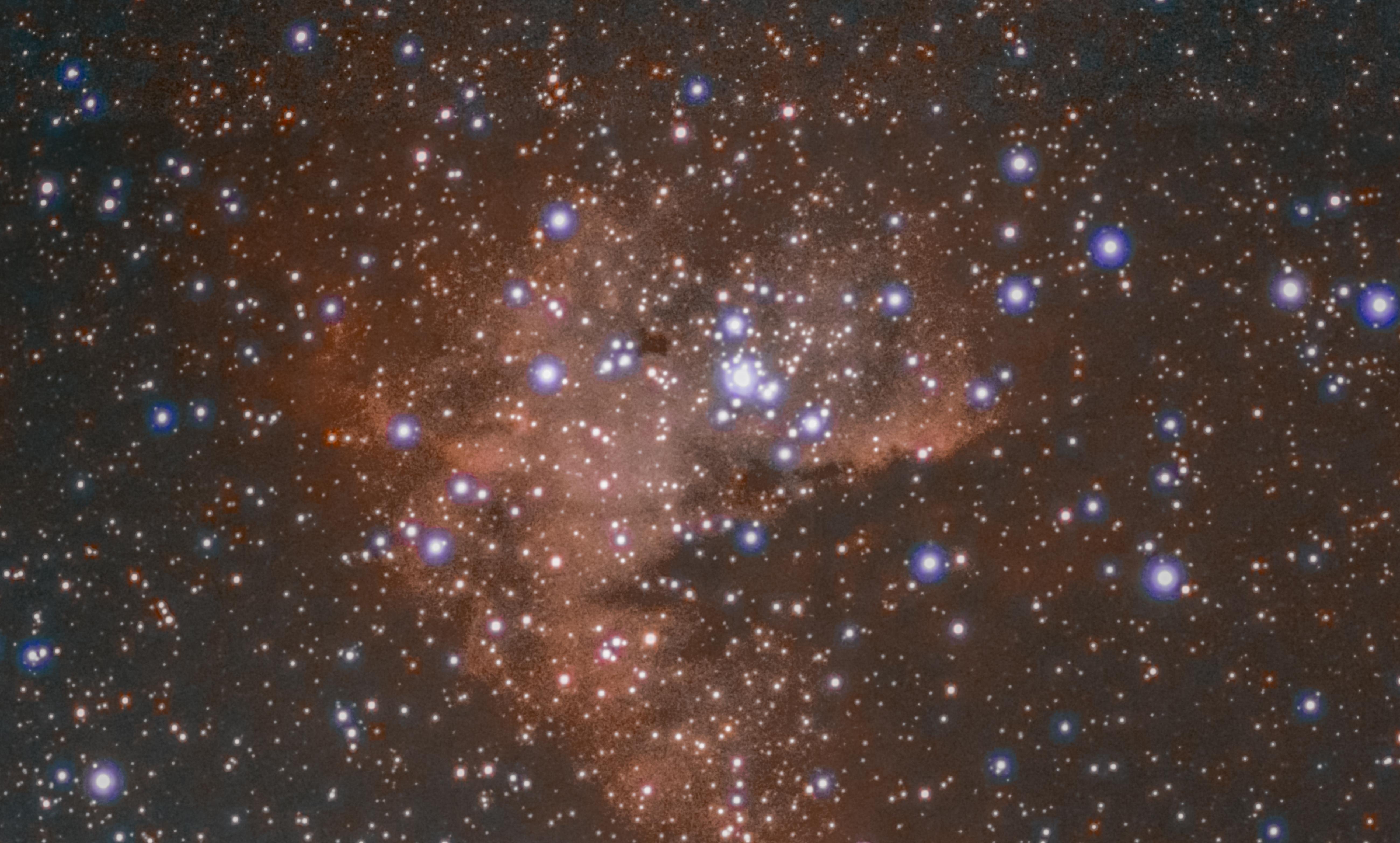 ngc281, pacman nebula, pacman