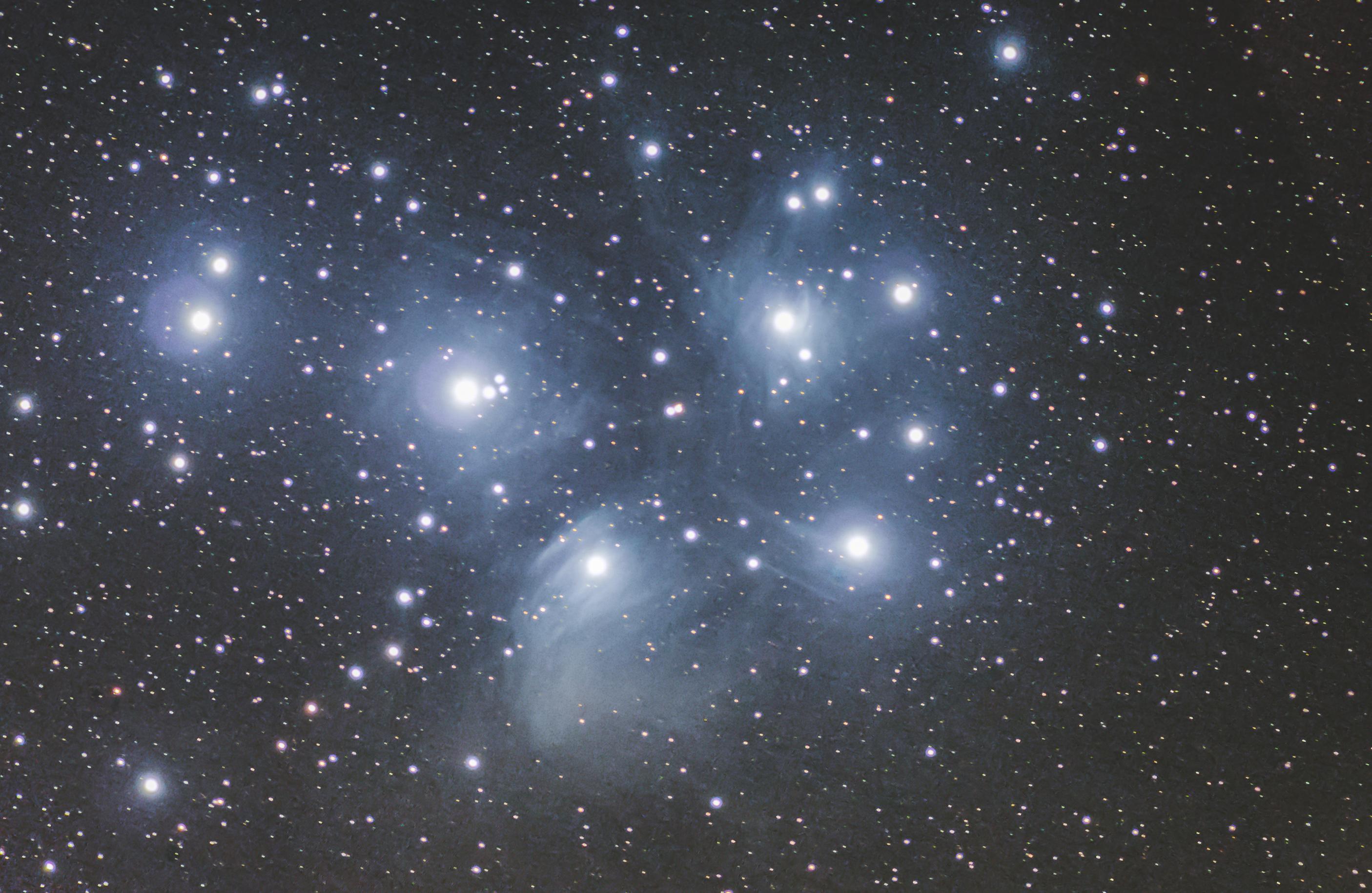 m45, messier 45, pleiades, seven sisters, 7 sisters,