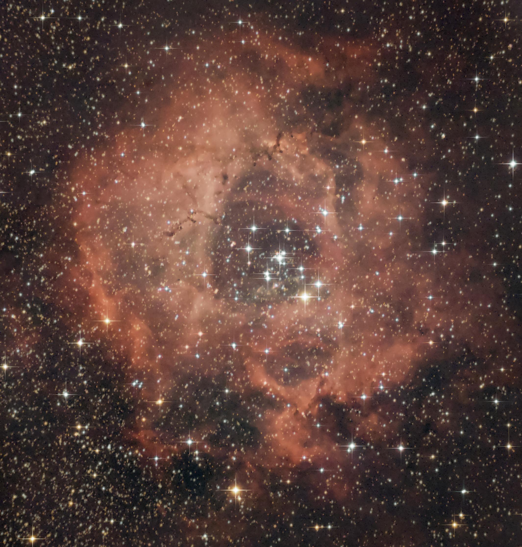 caldwell 49, c49, rosette nebula, rosette, monoceros,